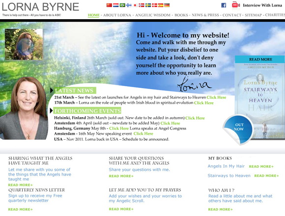 Lorna Byrne website